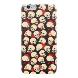 """Чехол для iPhone 6 """"Черепа """" - skull, череп, черепа, кровь, blood"""