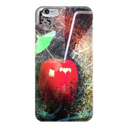 "Чехол для iPhone 6 глянцевый ""Яблочный микс"" - напиток, абстракция, яблоко, фрукт, натюрморт"