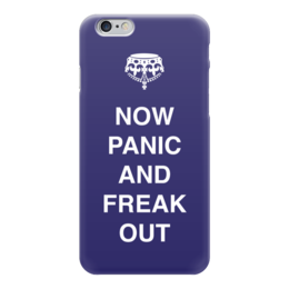 "Чехол для iPhone 6 глянцевый ""Now panic and freak out"" - english, англия, английский, паника, keep"