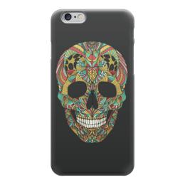 "Чехол для iPhone 6 ""Череп"" - skull, череп, узор, сова, паттерн, символ, owl, дудл"