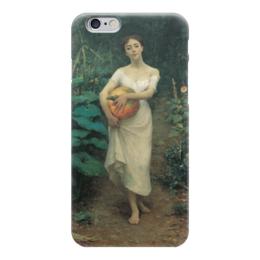"""Чехол для iPhone 6 """"Young Girl with a Pumpkin"""" - картина, зонаро"""