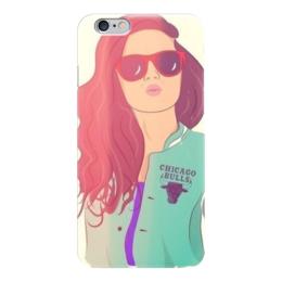 """Чехол для iPhone 6 """"Стильная девушка"""" - девушка, стильный, gta v, chicago bulls"""
