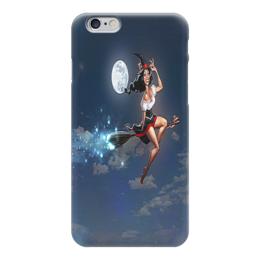 """Чехол для iPhone 6 глянцевый """"Ведьма на метле"""" - ведьма, фильмы, ужасы, фэнтази"""
