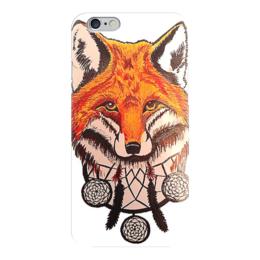 """Чехол для iPhone 6 глянцевый """"FoxCatcher"""" - fox, dream catcher, лиса, ловец снов"""