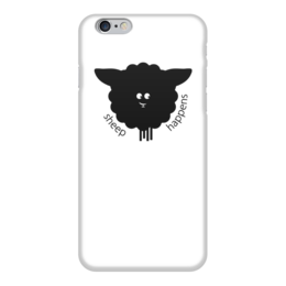 """Чехол для iPhone 6 глянцевый """"Round Sheep"""" - овечка, sheep, новый год, 2015"""