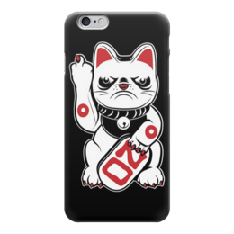 "Чехол для iPhone 6 ""Bad Cat"" - кот, bad, cat, плохой, fuck you"