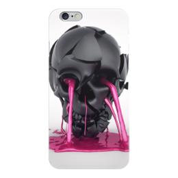 "Чехол для iPhone 6 ""Plastic skull"" - skull, череп, краска, paint"