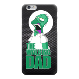 "Чехол для iPhone 6 ""Walking Dead x Simpsons"" - зомби, пародия, гомер симпсон, ходячие мертвецы, the walking dead"