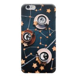 "Чехол для iPhone 6 глянцевый ""Star coffee"" - звезды, кофе, астрономия, создездия"
