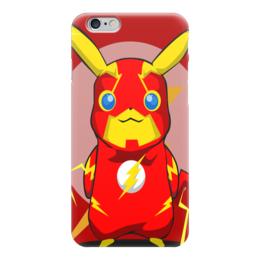 """Чехол для iPhone 6 """"Супергерой Флэш"""" - рисунок, комиксы, кино, пикачу, флэш"""