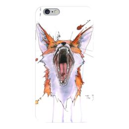 """Чехол для iPhone 6 """"Агрессор"""" - fox, лиса, агрессор, agressive fox"""