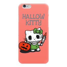 "Чехол для iPhone 6 ""Hallow Kitty"" - кошка, hello kitty, тыква, хелло китти, хэловин"