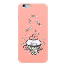 """Чехол для iPhone 6 """"Ваниль"""" - конфеты, чай, пастельный, сладкий, ванильный"""