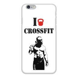 """Чехол для iPhone 6 """"Кроссфит с Лукасом Паркером"""" - crossfit, кроссфит"""