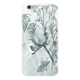 "Чехол для iPhone 6 ""Сонет. Графика"" - цветок, роза, бутон"