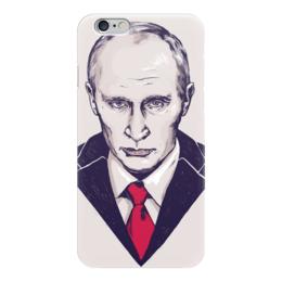 """Чехол для iPhone 6 глянцевый """"Путин"""" - портрет, россия, патриотизм, политика, иллюстрация, путин, президент, putin"""