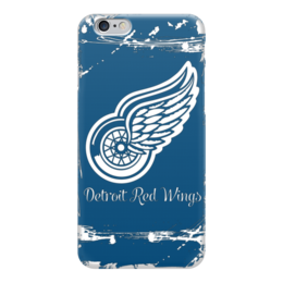 "Чехол для iPhone 6 глянцевый ""Detroit Red Wings"" - хоккей, nhl, detroit red wings, детройт ред уингз, нхл"