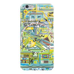 """Чехол для iPhone 6 """"Березка"""" - арт, узор, абстракция, фигуры, бирюзовый"""