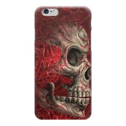 """Чехол для iPhone 6 """"Skull Art"""" - skull, череп, кровь, blood, арт дизайн"""