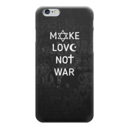 """Чехол для iPhone 6 глянцевый """"make love not war"""" - war, цитаты, графити, минимализм, рисунок"""