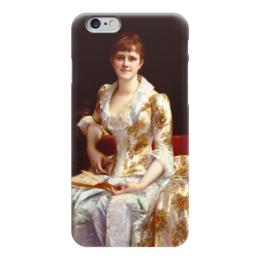 """Чехол для iPhone 6 """"Портрет молодой леди"""" - картина, кабанель"""