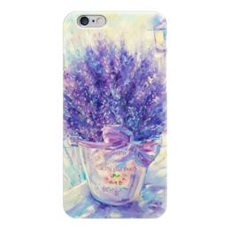 """Чехол для iPhone 6 глянцевый """"Прованс"""" - лаванда, прованс, provence, lavender"""