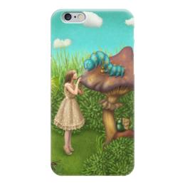 """Чехол для iPhone 6 """"Алиса в стране чудес"""" - алиса, гриб, гусеница, алиса в стране чудес, alice in wonderland"""