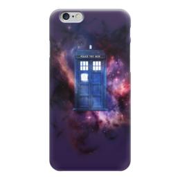 """Чехол для iPhone 6 """"Tardis"""" - космос, приключения, доктор кто, тардис, полицейская синяя будка"""