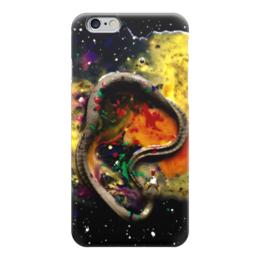 """Чехол для iPhone 6 """"Уроборос"""" - арт, авторские майки, рисунок, космос"""