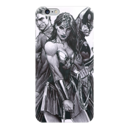 "Чехол для iPhone 6 ""Batman vs Superman"" - комиксы, бэтмен, супермэн, dc comics, чудо-женщина"