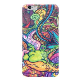 "Чехол для iPhone 6 глянцевый ""graffiti"" - graffiti, граффити, bright, ярко, краски"