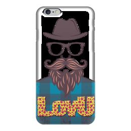 "Чехол для iPhone 6 ""LovU..."" - любовь, love, борода, усы, moustache"