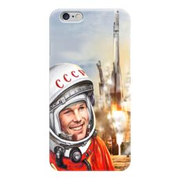 """Чехол для iPhone 6 глянцевый """"Юрий Гагарин  (1)"""" - космос, космонавт, байканур"""