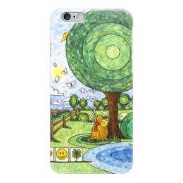 """Чехол для iPhone 6 глянцевый """"Lollypups #17 (the Dreamer)"""" - арт, бабочки, подарок, баран, positive"""