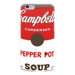"Чехол для iPhone 6 глянцевый ""Campbell's Soup (Энди Уорхол)"" - pop art, andy warhol, поп арт"