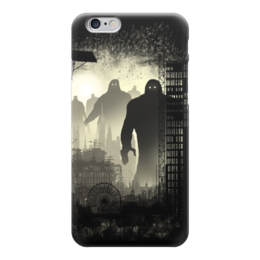 """Чехол для iPhone 6 """"Нечто темное"""" - черно-белое, монстры, dark"""