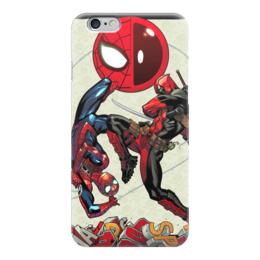 "Чехол для iPhone 6 ""Spidey & Deadpool"" - комиксы, марвел, человек-паук, дэдпул, питер паркер"