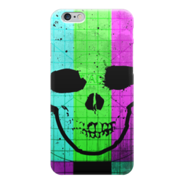 "Чехол для iPhone 6 ""Smpte skull"" - skull, череп, digital art, smpte"