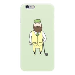 """Чехол для iPhone 6 """"Джентльмен с клюшкой для гольфа"""" - мяч, борода, джентльмен, гольф, клюшка"""