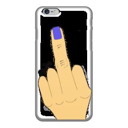 """Чехол для iPhone 6 """"Палец с маникюром"""" - fuck, палец, фак, маникюр, жесты"""