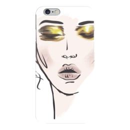 """Чехол для iPhone 6 глянцевый """"Gold Japan"""" - лицо, люди, япония, красота, мода"""