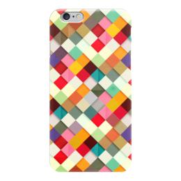 """Чехол для iPhone 6 """"Африканский Узор - Самоцветы"""" - узор, мозаика, mosaic, самоцветы"""