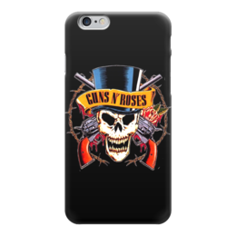 "Чехол для iPhone 6 ""Guns N' Roses"" - skull, metal, рок, rock, heavy metal, фанат, glam, guns n roses, метал, металлист"