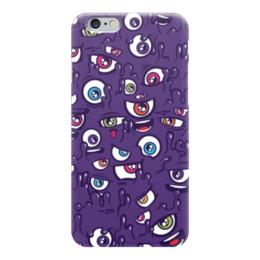 """Чехол для iPhone 6 глянцевый """"Blood Sweat Vector"""" - eyes, глаза, фиолетовый"""