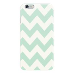 """Чехол для iPhone 6 """"Светло-зеленый шеврон"""" - pattern, шеврон, зигзаг, chevron"""