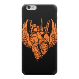 "Чехол для iPhone 6 глянцевый ""Heart City / Серде Города"" - арт, город, сердце, крылья"