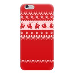 """Чехол для iPhone 6 """"Олени праздничные"""" - любовь, новый год, узор, животные, олени"""