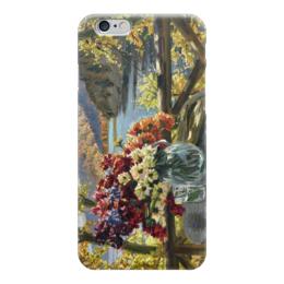 """Чехол для iPhone 6 """"Цветы на фоне озера"""" - картина, вещилов"""