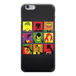 "Чехол для iPhone 6 ""Злодеи из Бэтмена"" - joker, harley, catwomen, пугало, двуликий"