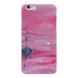 """Чехол для iPhone 6 """"розовый закат"""" - романтика, любимой, розовый, для девушки, морское"""